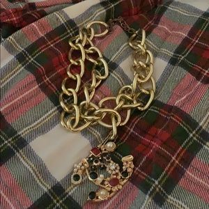Auth chanel pin made to necklace